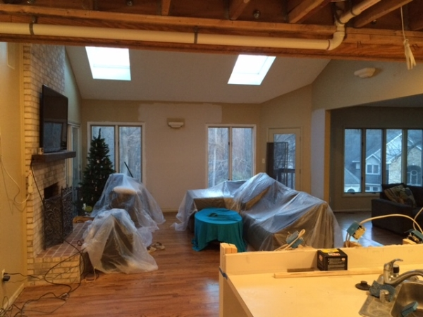 Load bearing wall removal during our living room renovation on the Greenspring Home blog