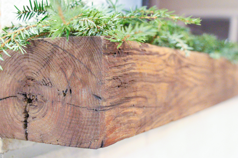 Modern Farmhouse Reclaimed Barn Wood Fireplace Mantel