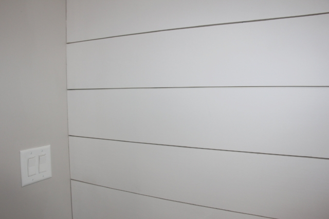 White Shiplap Wall on The Greenspring Home blog