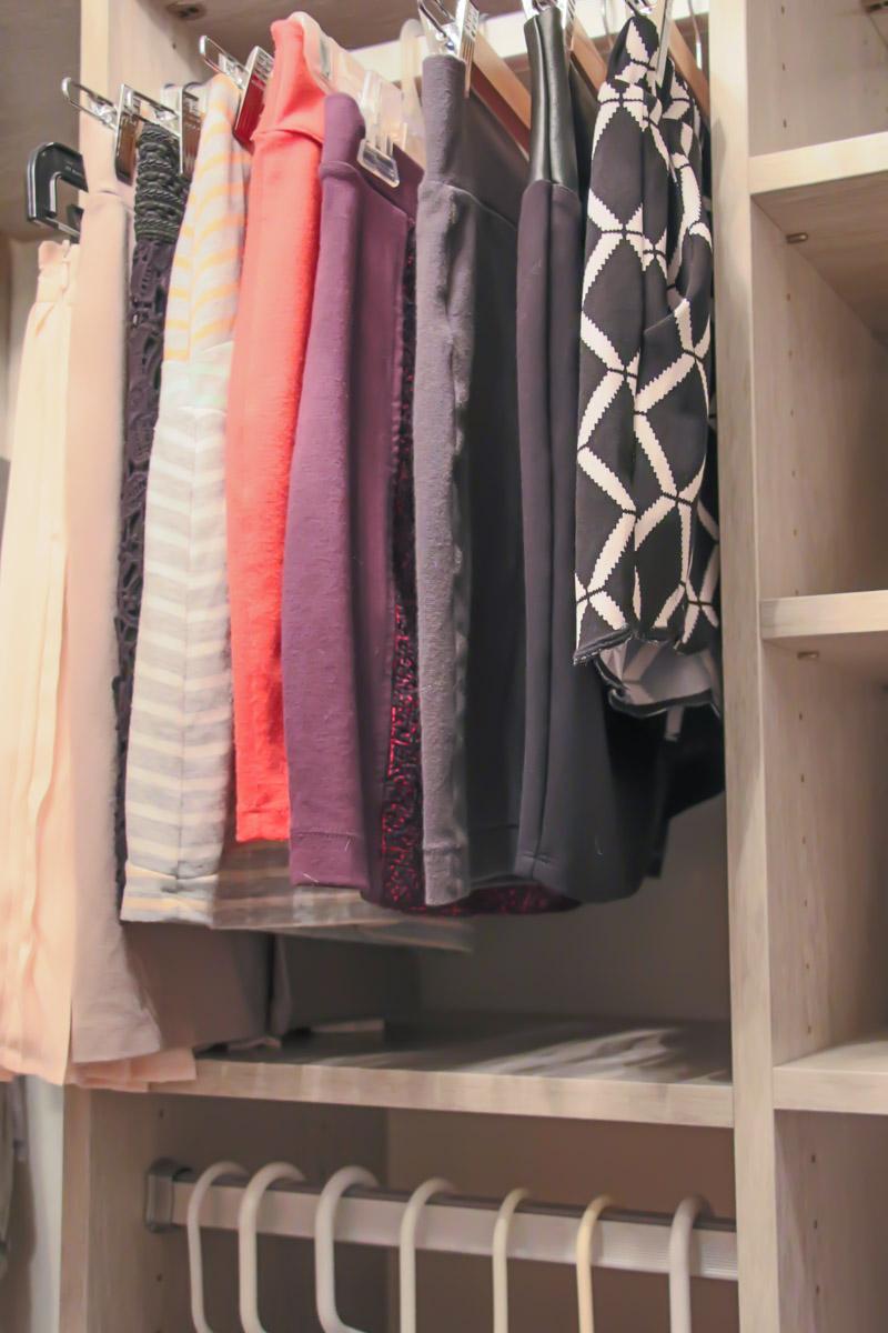 CCloset Organization - Custom Space for Short Skirts