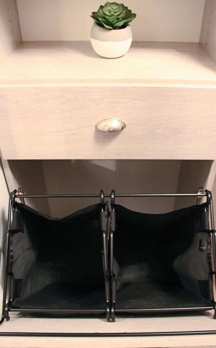 Closet Organization | Built-in, Hidden Laundry Bags