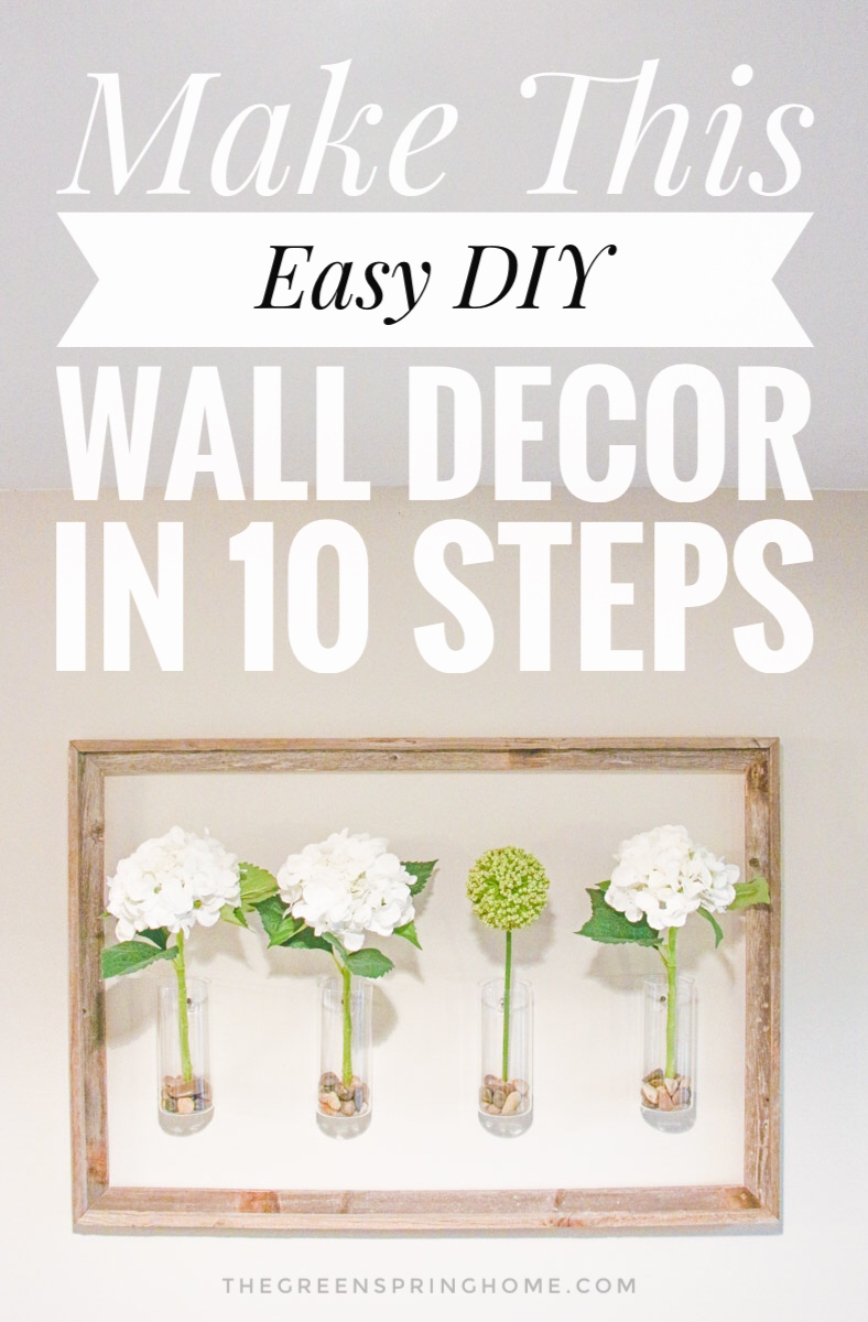 Make This Easy DIY Wall Decor in 10 Steps - Click for Free Tutorial!