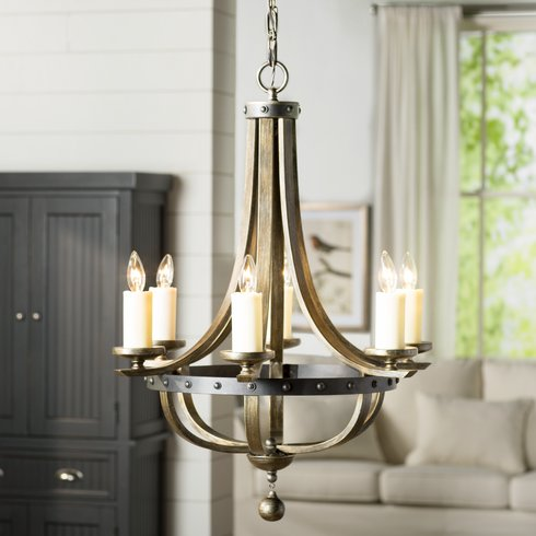 Get that Modern Farmhouse look for your home with one of these 8 affordable chandeliers!