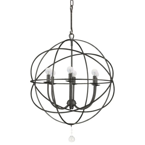 Get the Modern Farmhouse look for your home with a large orb chandelier!