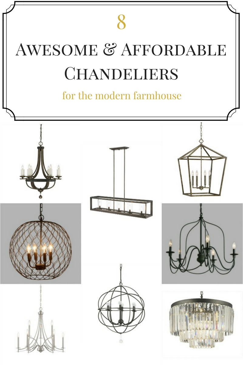Get that modern farmhouse look in your home with one of these 8 affordable chandeliers