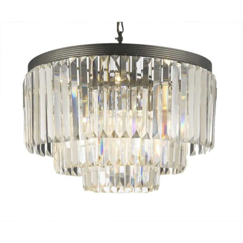 This Odeon clear glass chandelier is an affordable Restoration Hardware look alike!
