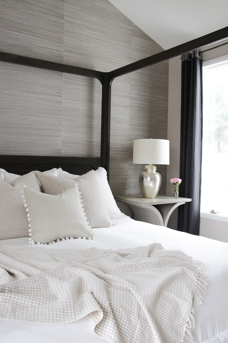 How to make the perfect bed the greenspring home - Spring bedding makeover ideas ...