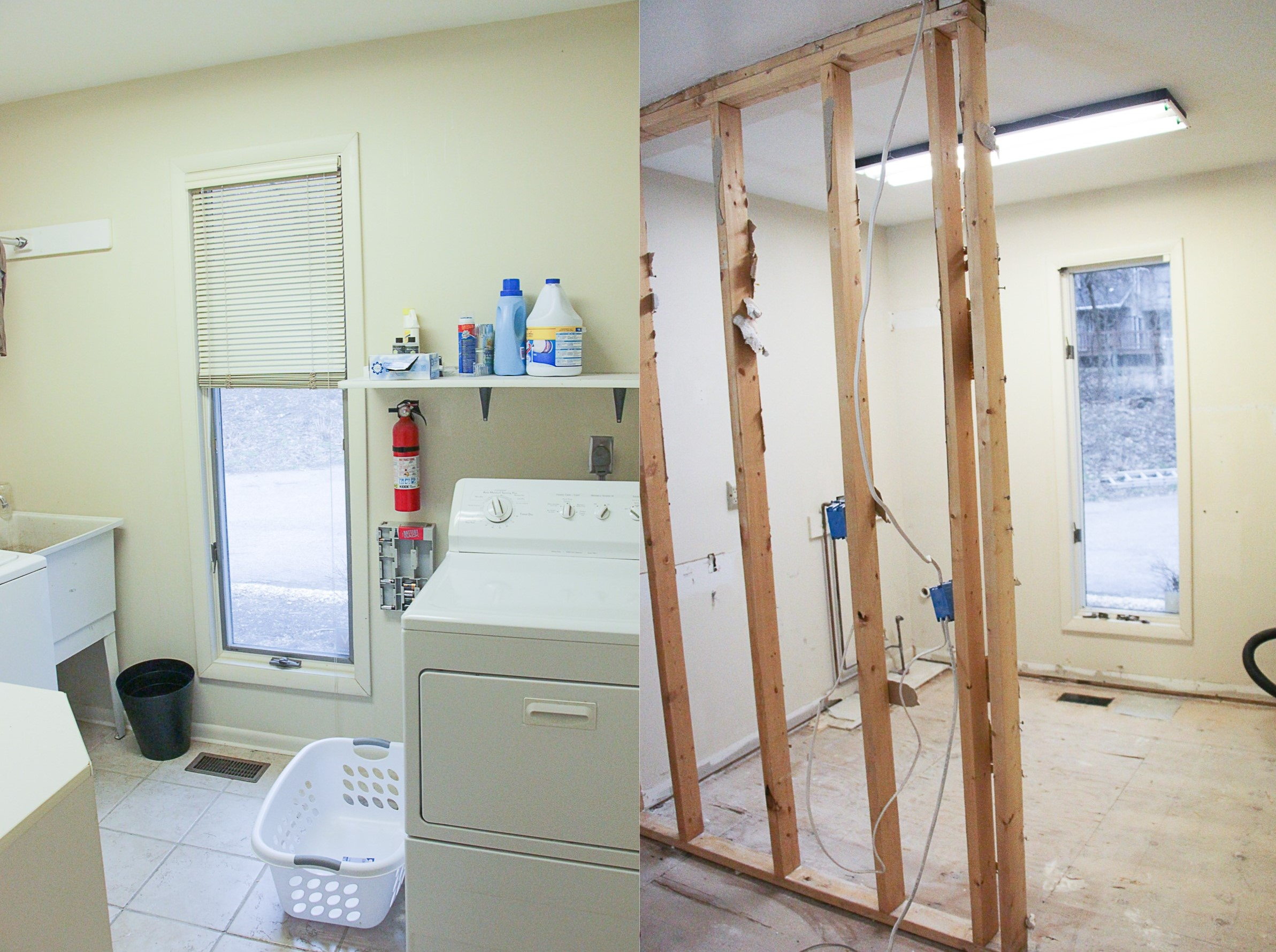Before and After Demo Day at The Greenspring Home