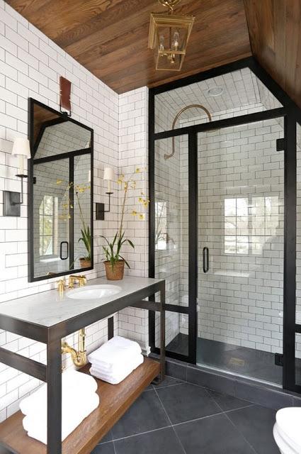 Open Bathroom Vanity | Steel Bathroom Vanity | Modern Farmhouse Bathroom