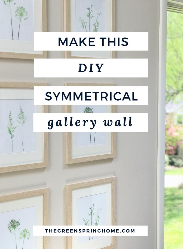 Easy DIY Photo Grid Gallery Wall