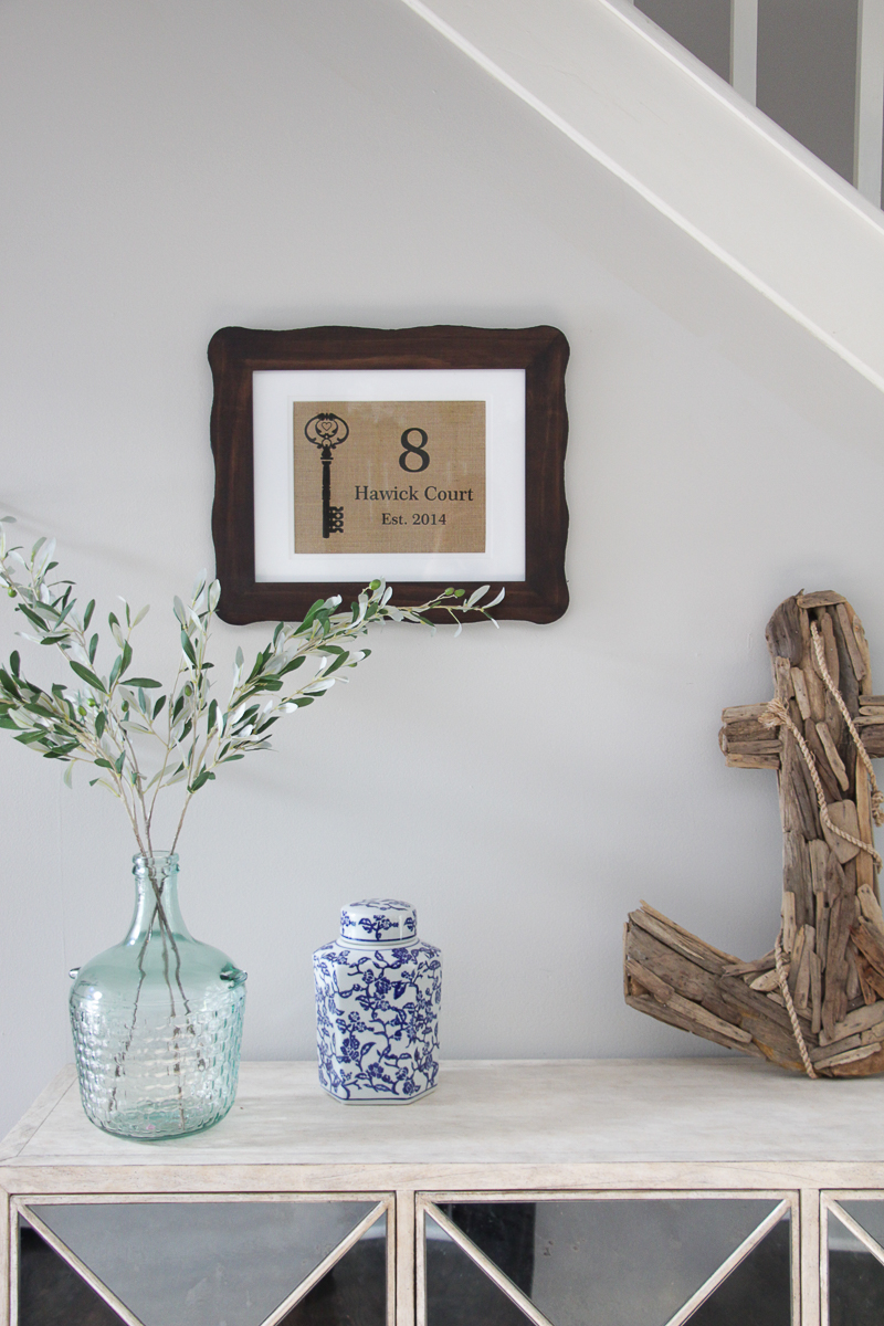 Console Table Styling Tips | Console Table Decor Ideas | Mirrored Furniture | Faux Olive Branches | Driftwood Decor