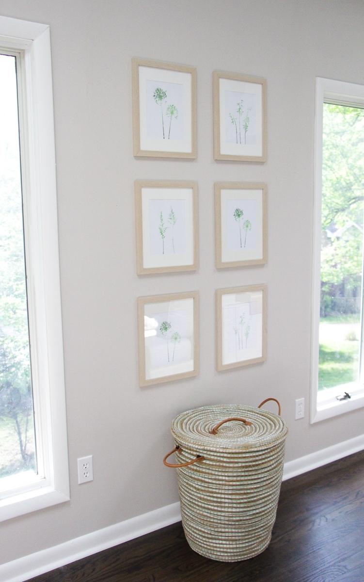 DIY Symmetrical Gallery Wall   Printable Wall Art Ideas   DIY Décor Ideas