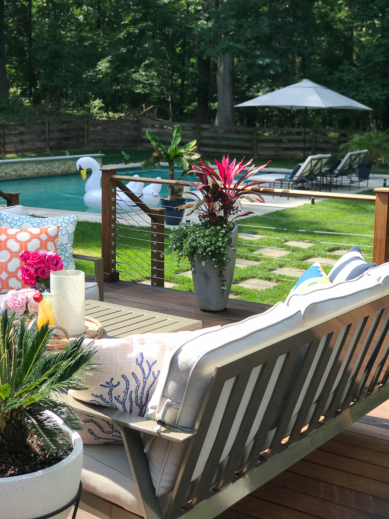 Come get more outdoor decorating ideas for your backyard on this bloggers Summer Outdoor Living Tour!