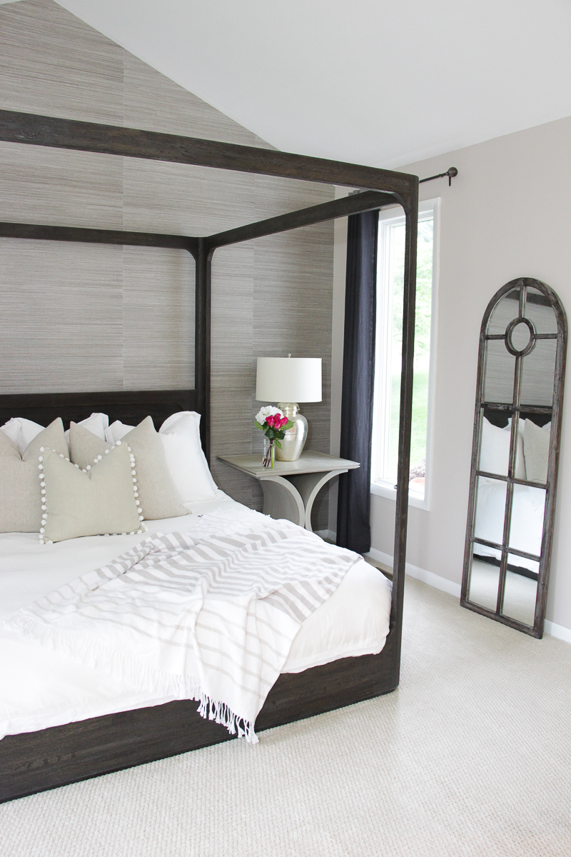canopy bed master bedroom master bedroom makeover reveal the greenspring home 14698
