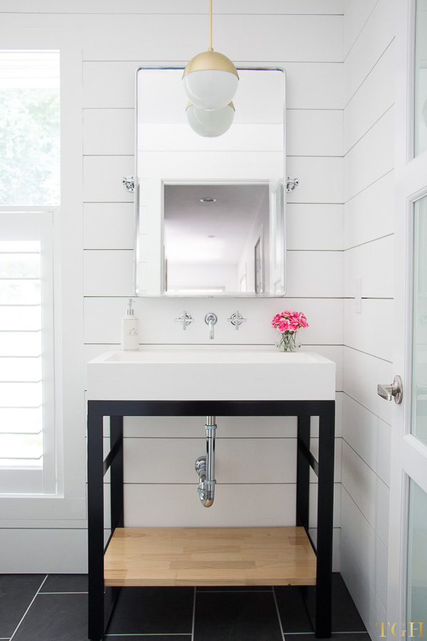 White Modern Bathroom Makeover The Greenspring Home