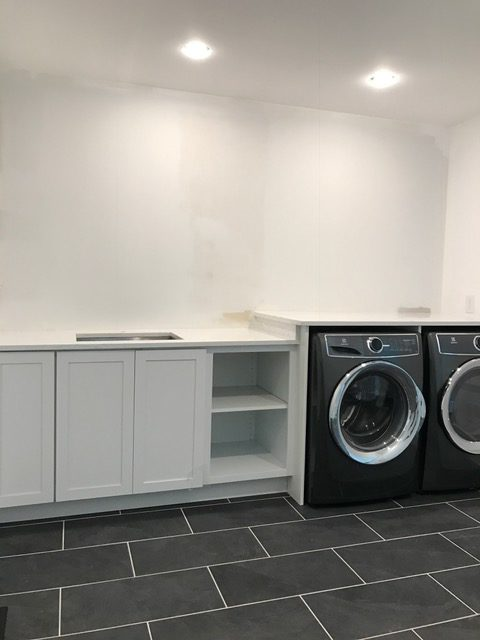 Laundry room makeover Before and After photos