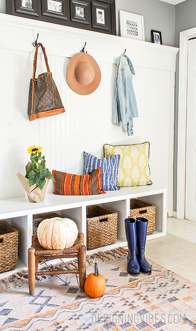 DIY Mudroom Ideas. Boho Home Decor. Mudroom Design Ideas.