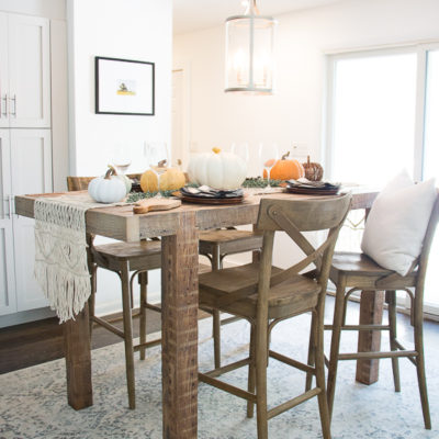 Eat in kitchen table. Bar height dining table. Eat in kitchen decor. Informal dining room ideas.