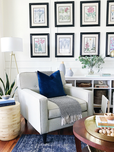 Gallery Wall Ideas for Living Room. Boho Living Room Decor.