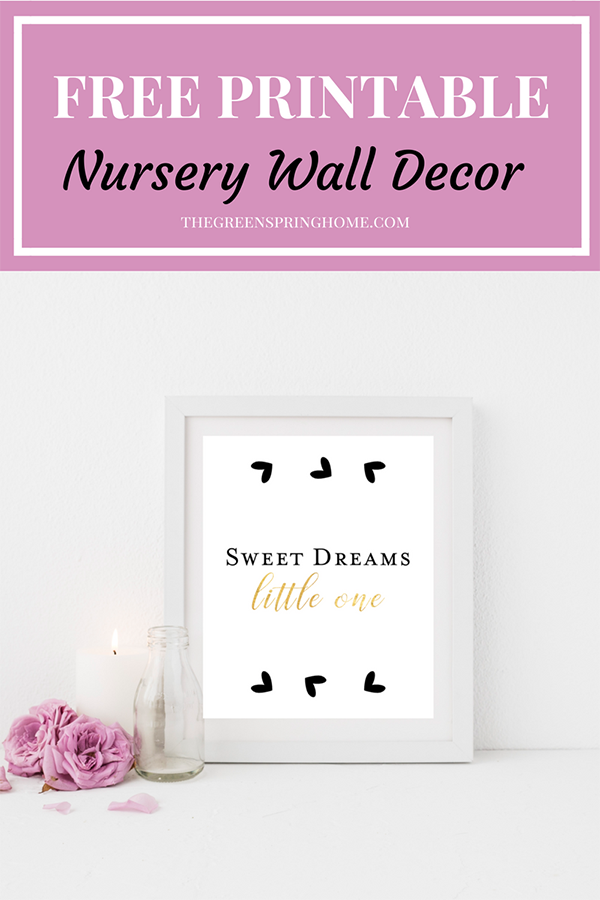 Get this FREE printable nursery wall art! Free Printable Kids Wall Art. Free Printables Nursery. Nursery Wall Decor Gold. #freeprintable #printabledecor #freeprintablesforkids