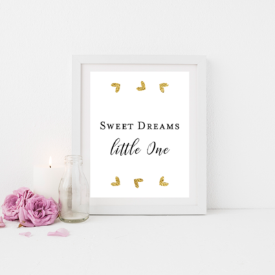 Free printable for your baby's nursery or children's bedroom.