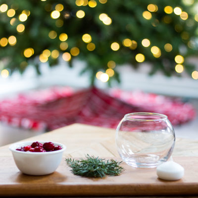 DIY Holiday Floating Candles