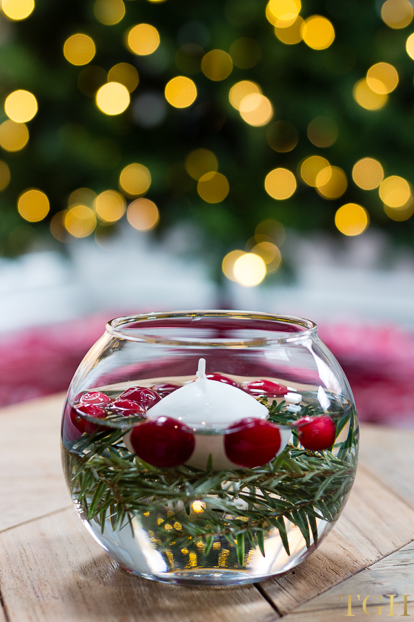 Christmas Floating Candles.Diy Holiday Floating Candles The Greenspring Home