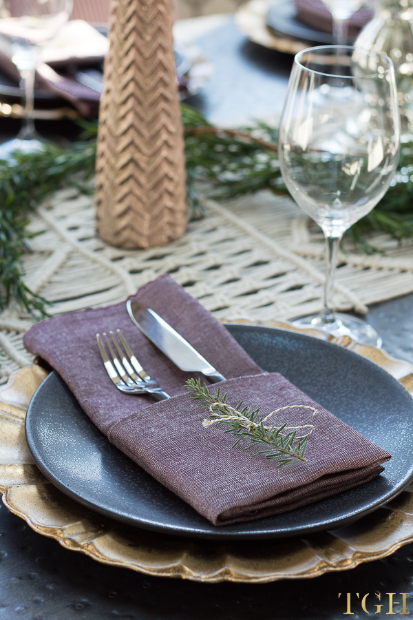 Simple Thanksgiving Table Setting Ideas.