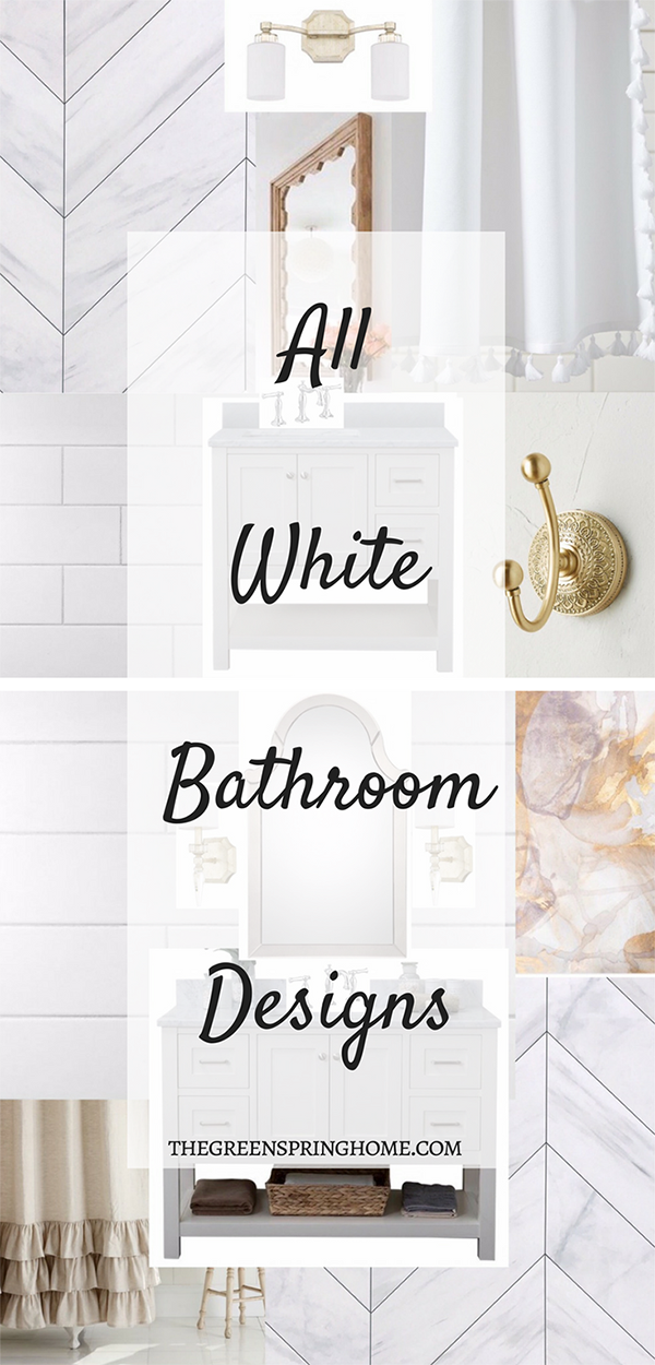 All White Bathroom Design Boards