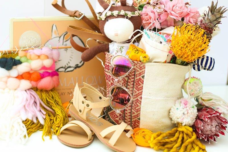 Bohemian theme Easter basket