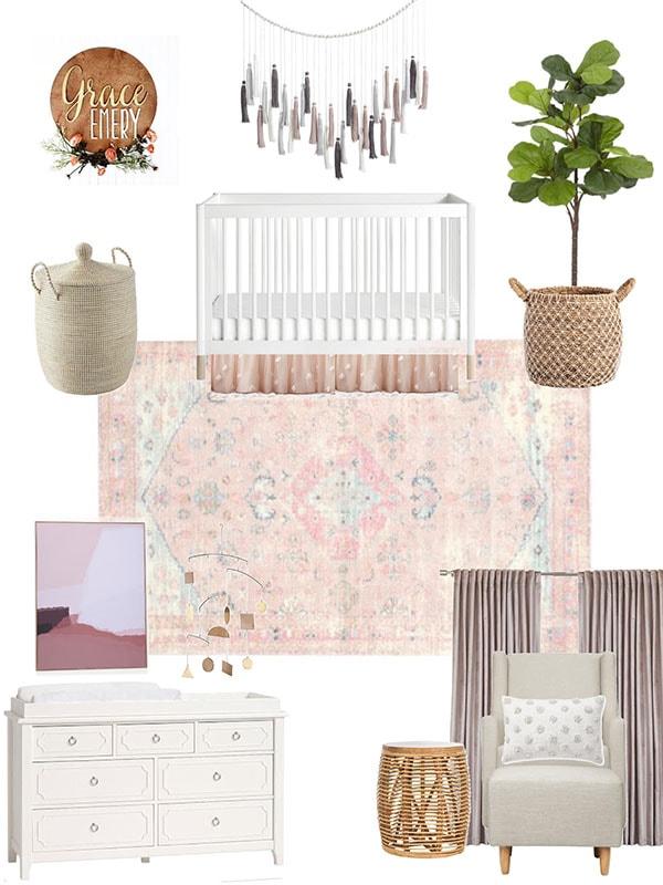 Free Boho Chic baby nursery design