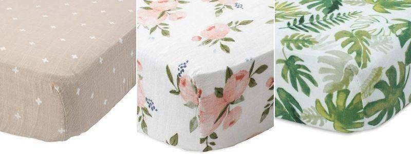 Cotton muslin baby crib sheets