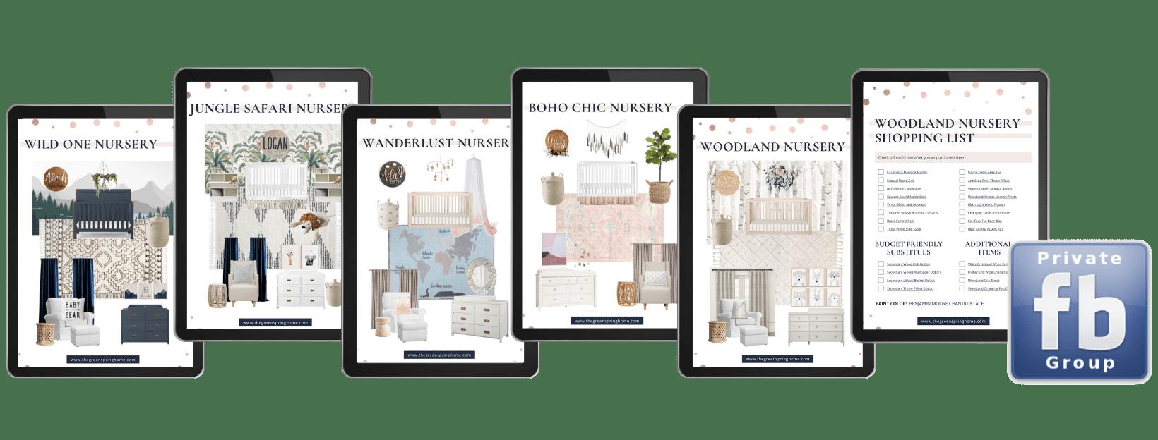 Simple nursery design ideas