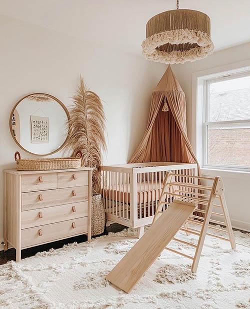 Earth tone nursery for baby