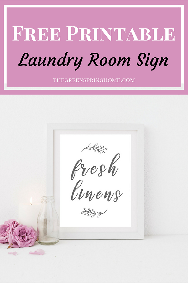 photograph relating to Printable Laundry Signs called Cost-free Printable Laundry Space Signs or symptoms - The Greenspring Residence