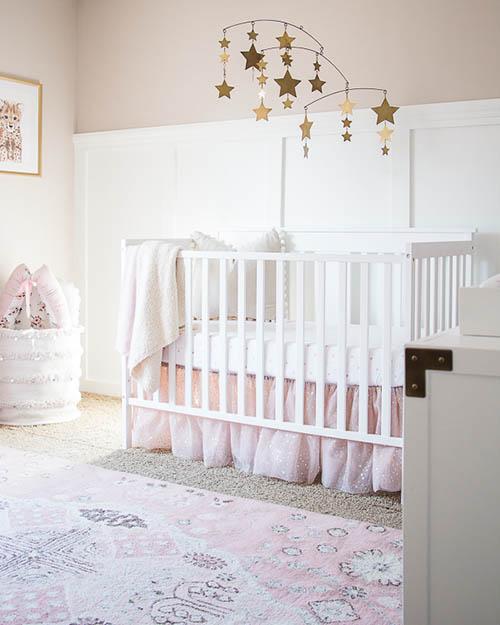 Girly themed nursery