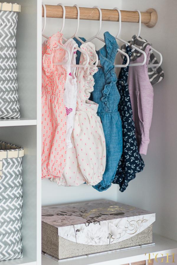 Baby Girl Nursery Closet Organizer