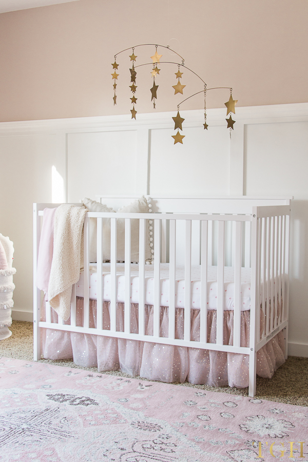 Pink and Gold Baby Room Decor