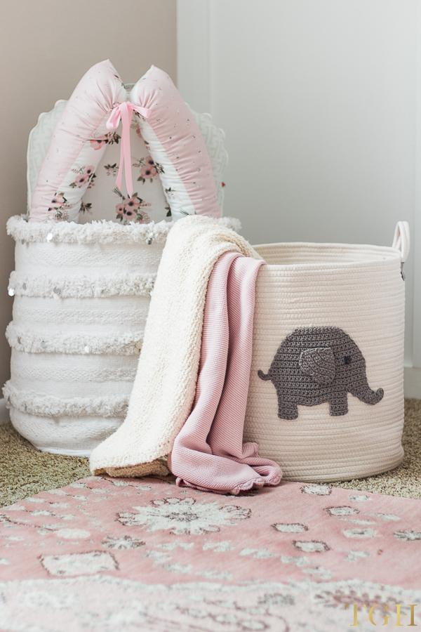 Baby Toy Storage Basket or Nursery Toy Storage Basket