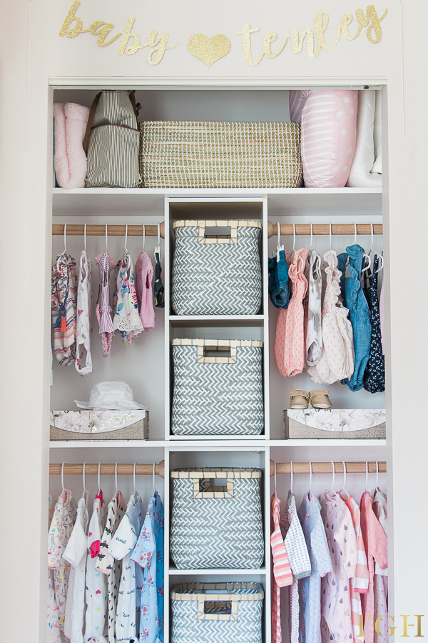Beau Ways To Organize Your Small Baby Closet