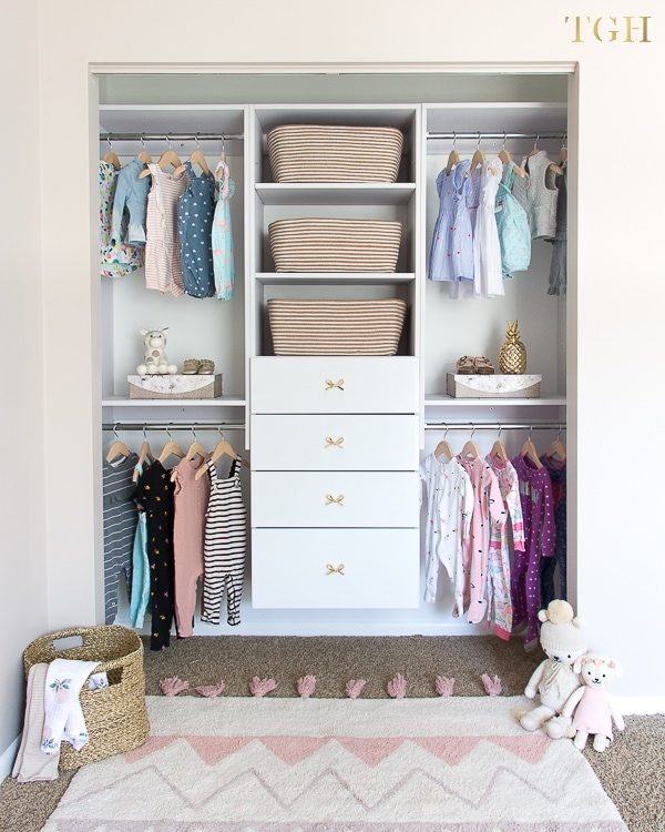 How To Build A Beautiful Baby Clothes Organizer - The Greenspring Home