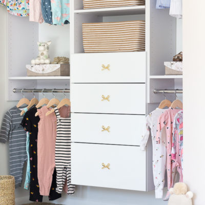 Build this beautiful baby clothes organizer