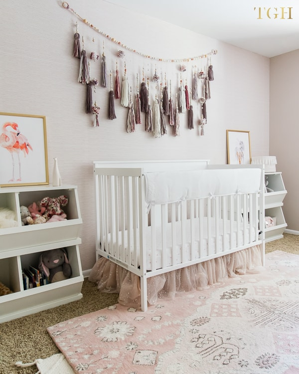Girl nursery ideas - easy removable nursery wallpaper Interior Bloggers In 2019