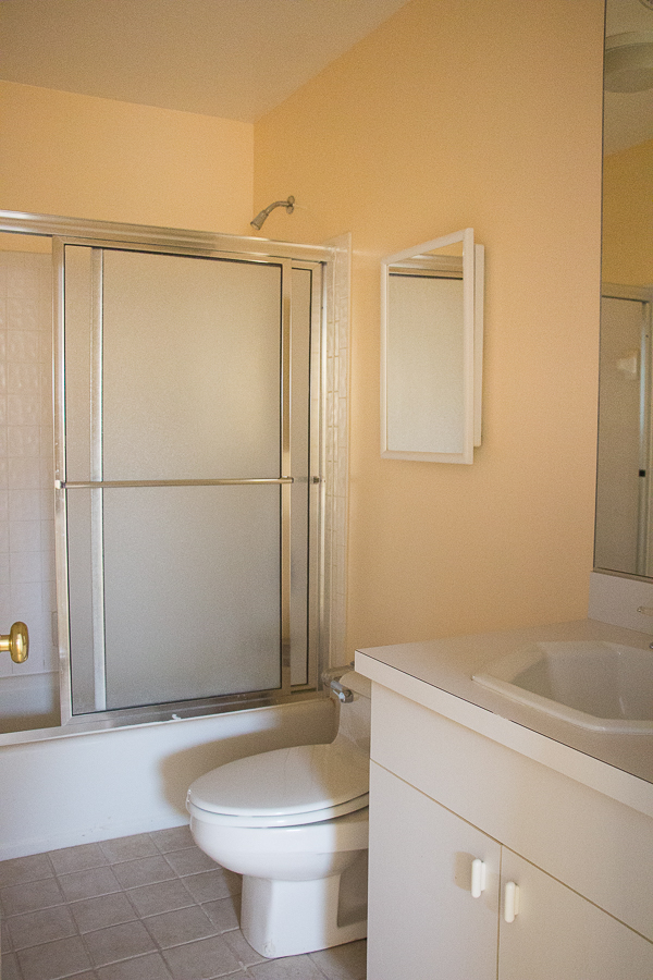 Feminine White Bathroom Renovation Before and After