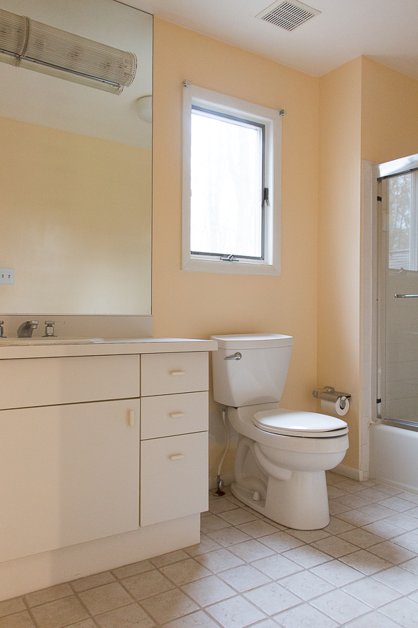 All White Bathroom Renovation Before and After