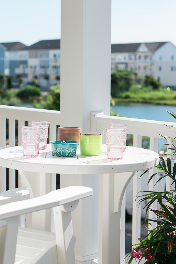 candles for deck and patio