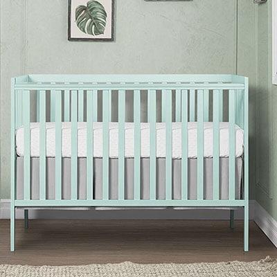 Mint baby crib