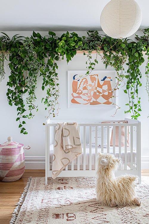 Plant inspired girl nursery theme
