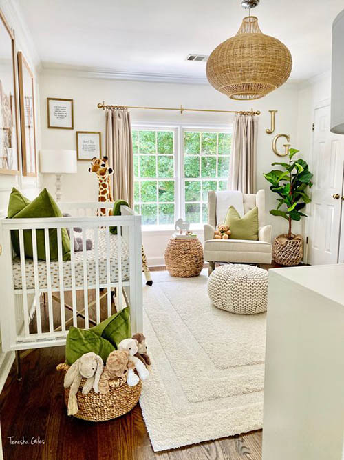 Sophisticated green nursery ideas for baby