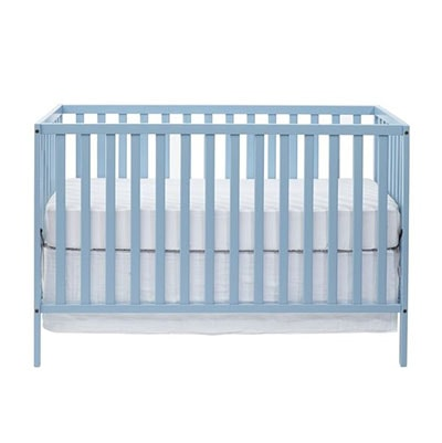 Baby blue nursery crib